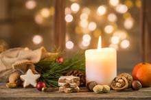 Weihnachten Kerze Stimmungsvoll Weihnachtlich