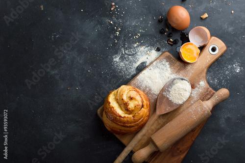 Poster Cuisine Baking pastry ingredients
