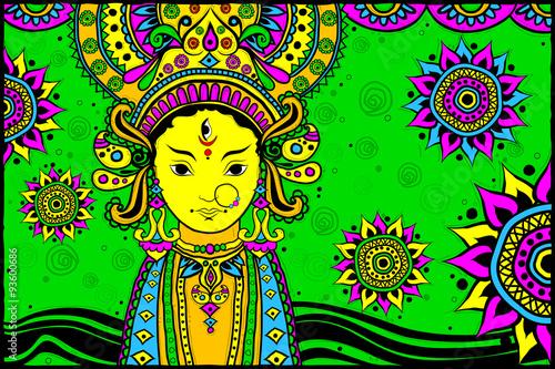 Fotografie, Obraz  Goddess Durga for Happy Dussehra