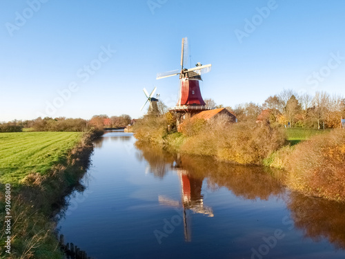 Aluminium Prints Mills Greetsiel, traditional Dutch Windmill