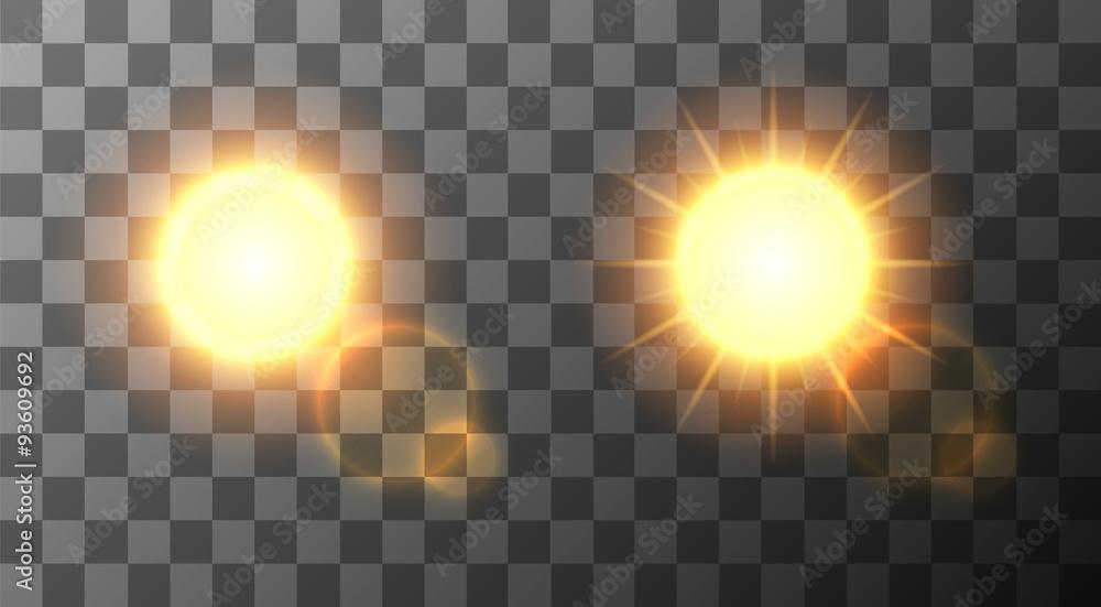Fototapety, obrazy: Vector modern sun set background.