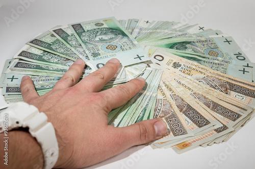 Fototapeta pieniądze polskie obraz