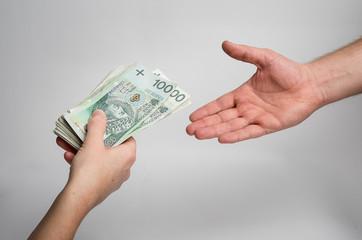 polskie pieniądze 100 pln