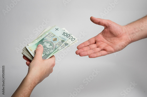 polskie pieniądze 100 pln Fototapeta