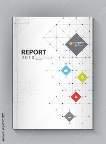 Fotografía  Modern Annual report Cover design vector dot technology