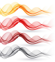 Set Of Abstract Waves. Vector ...