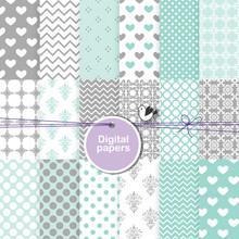 Seamless Pattern Background - Decorative Digital Paper