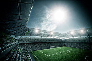 Fototapeta stadion piłkarski nowoczesny