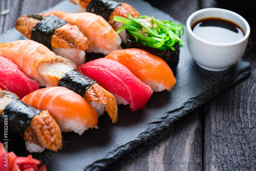 Photo  Various kinds of sushi