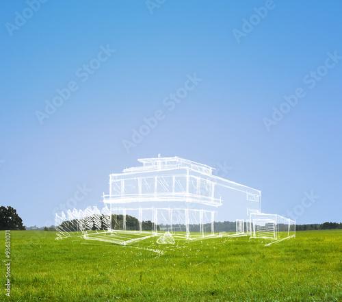 Obraz Traumhaus in der Natur - fototapety do salonu