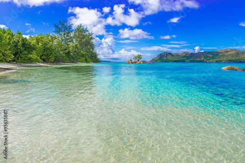 fototapeta na ścianę Beautiful beach, Island Praslin - Seychelles