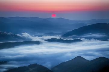 FototapetaMountain sunrise