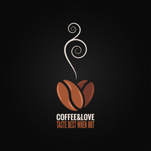 Coffee Bean Logo Love Concept ...