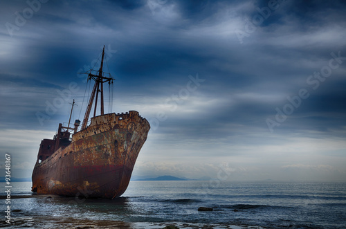 Canvas Prints Shipwreck Failure concept, shipwreck