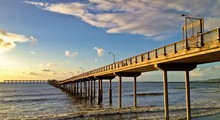 Long Pier Stretching Over The ...