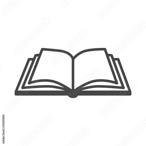 Open book vector icon on a white background Fototapeta