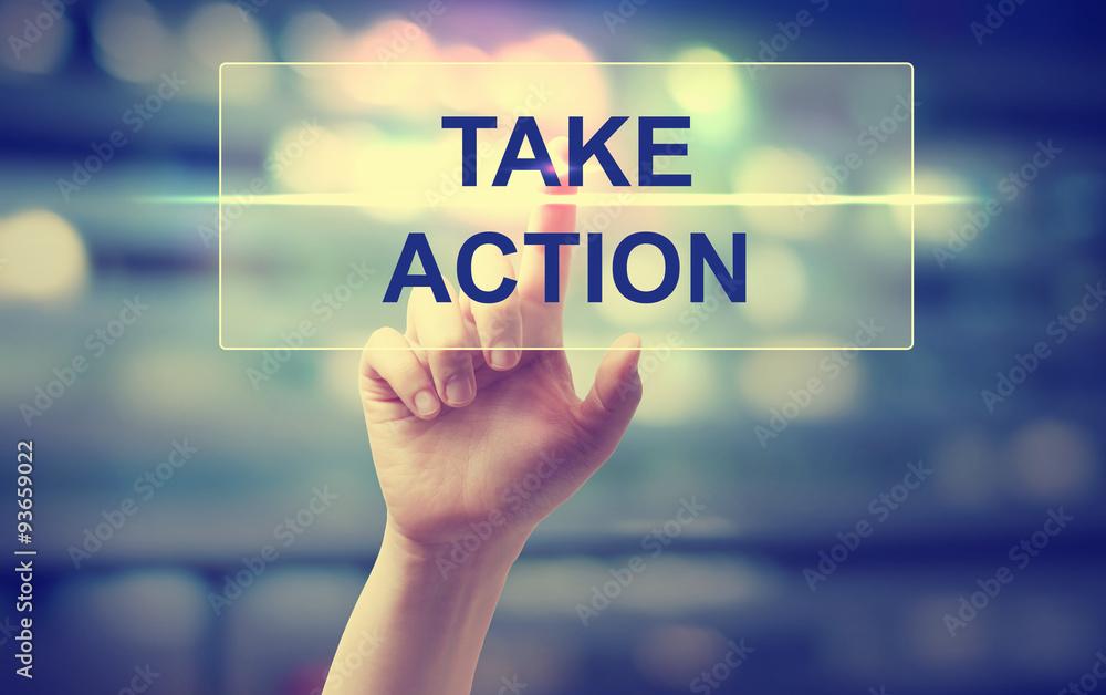 Ręcznie naciskając Take Action