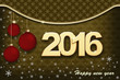 New Year. Christmas card with snowflakes