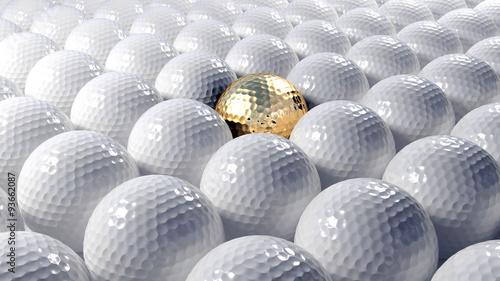 pilek-golfowych-abstrakcjonistyczny-tlo-z-jeden-zlocista-pilka