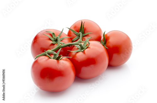 Tomato on the white isolatd background. #93669616