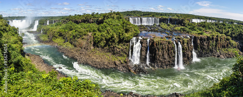 Foto op Canvas Watervallen Panoramic view at Iguazu Falls, Brazil