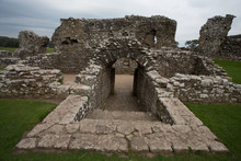 Inner Buildings Of Ogmore Castle In South Wales