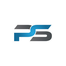 PS Company Linked Letter Logo Blue