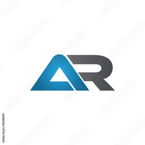 Fotografía  AR company linked letter logo blue