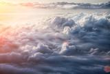Piękne tło błękitnego nieba - 93693897