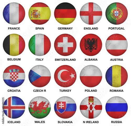 Photo  euro 2016 qualified soccer teams