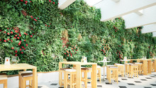 Bistro Vor Vertikalem Garten - Bistro In Front Of A Vertical Garden