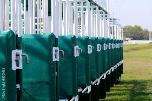 Fotomural Horse racing starting gates close-up
