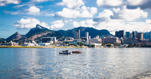 Panoramic View From Sea On Rio...