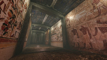 Tomb With Old Wallpaintings In Ancient Egypt