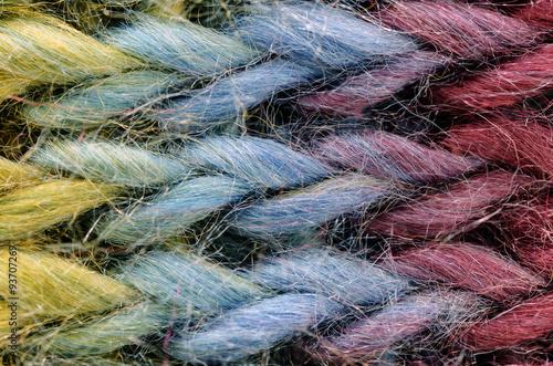 8532f270 Close up Multicolor Yarn in knitting pattern, – Kjøp dette bildet og ...