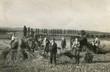 Leinwandbild Motiv farmer harvest old photo