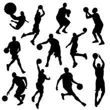 Vector Basketball Players In S...