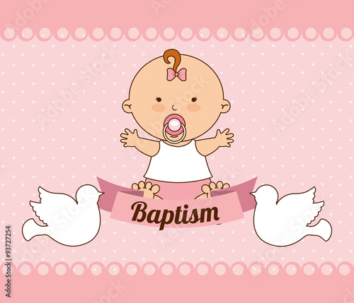 Stampa su Tela baptism invitation design