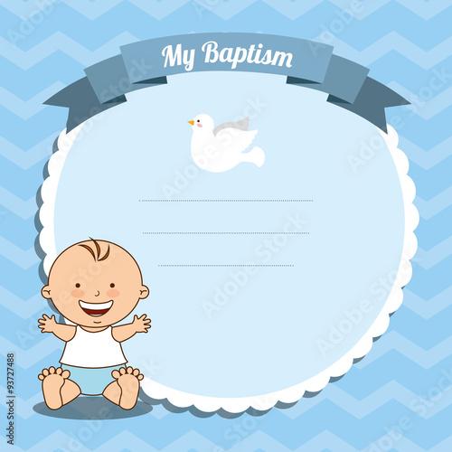 Fotografija baptism invitation design