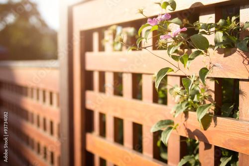 Stampa su Tela Wooden fence