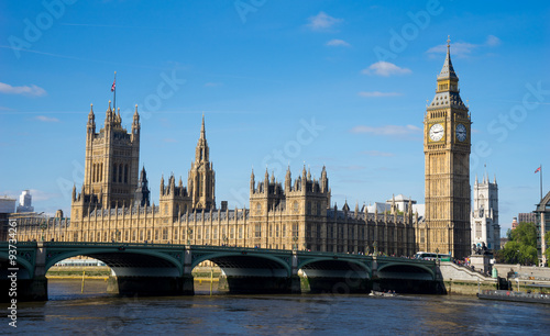 Foto op Canvas Londen The Palace of Westminster Big Ben at sunny day, London, England,