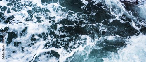Tuinposter Zee / Oceaan Stormy sea texture letterbox