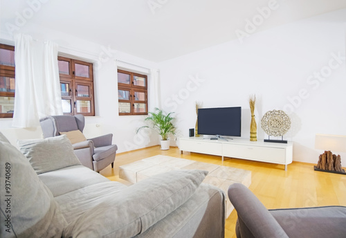 modernes wohnzimmer, modernes wohnzimmer- modern livingroom - buy this stock photo and, Design ideen