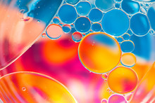 Water Bubbles Abstract Colorful  Background