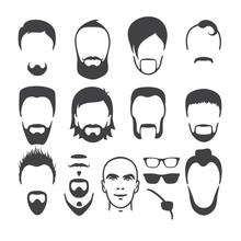 Man Face Set