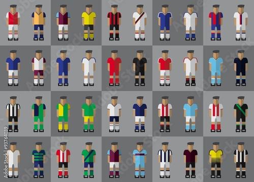 Fotografie, Obraz  English football team kit season 2015/2016