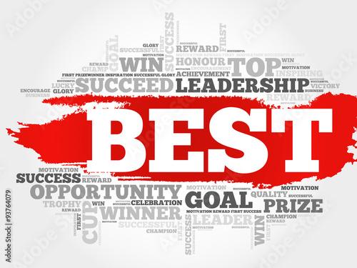 Best word cloud, business concept Canvas Print