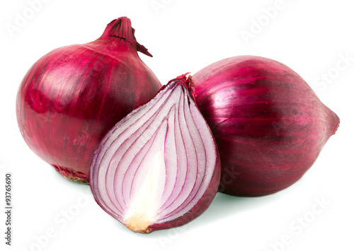 Fotografie, Obraz  red onion bulb