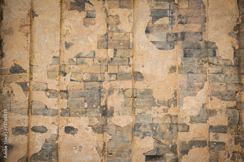 Photo sur Toile Vieux mur texturé sale The old Brick wall