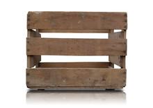 Alte Holzkiste Mit Freisteller